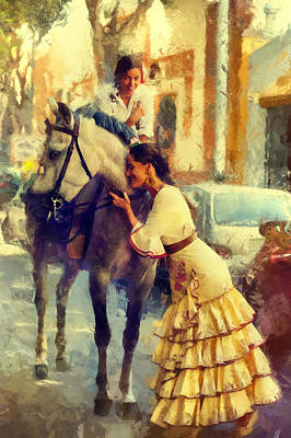 San Miguel Fair In Torremolinos Art Print by Jenny Rainbow