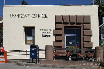 Postoffices Photograph - San Quentin Post Office In California - 7d18549 by Wingsdomain Art and Photography
