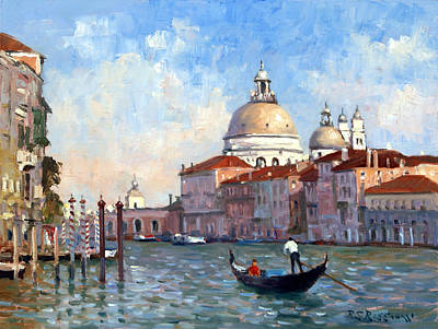 Grande Painting - San Salute Venice by Roelof Rossouw