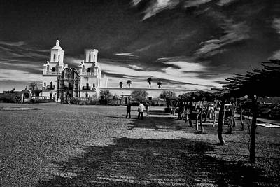 Print featuring the photograph San Xavier Del Bac Mission by Tom Singleton