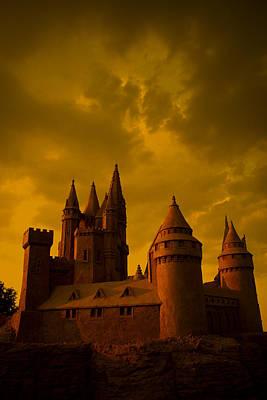 Photograph - Sand Castle Sepia by Radoslav Nedelchev