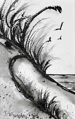 Sand Dune Drawing Art Print