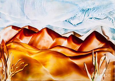 Sand Dunes Painting - Sand Dune Hills Painting by Simon Bratt Photography LRPS