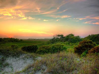Sand Dunes And Beach Grass  Art Print by Jenny Ellen Photography