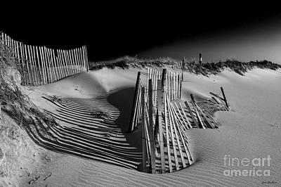 Sand Fence Art Print by Jim Dohms