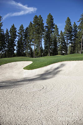 Sand Trap At A Golf Course Print by Jetta Productions, Inc