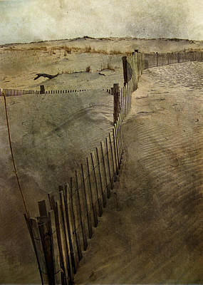 Sand Fences Photograph - Sand by Trish Tritz