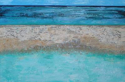 Painting - Sandbar by Elizabeth Langreiter