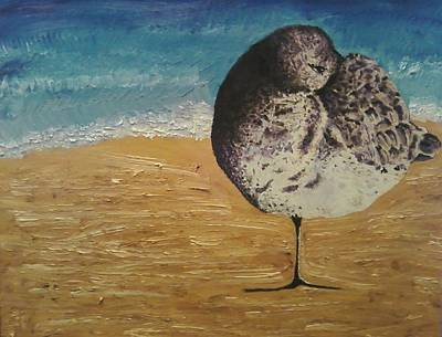 Florida Artists Mixed Media - Sandpiper  by Carlene Schlebus