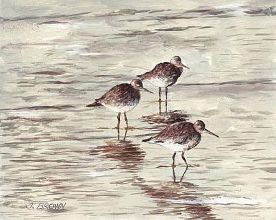 Sandpipers Art Print by John Brown