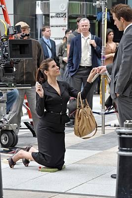 Sandra Bullock Carrying A Prada Bag Art Print by Everett