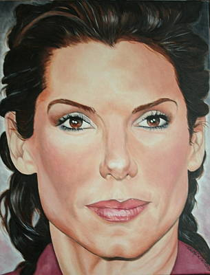 Portraits By Timothe Painting - Sandra Bullock by Timothe Winstead