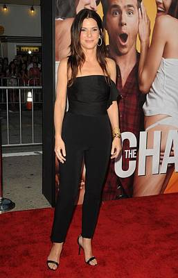 Sandra Bullock Wearing A Lanvin Print by Everett