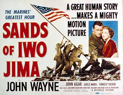 Adele Photograph - Sands Of Iwo Jima, John Wayne, Adele by Everett