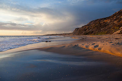 Sandstone Bluffs  Crystal Cove State Beach Art Print by Cliff Wassmann