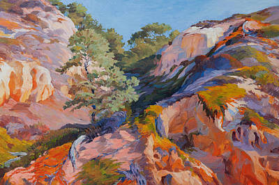 Painting - Sandstone Canyon At Torrey Pines by Judith Barath