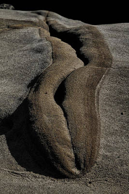 Photograph - Sandstone Fissure  by Roger Mullenhour