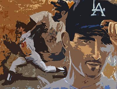 Sandy Kofax Poster Art Print by Adam Barone