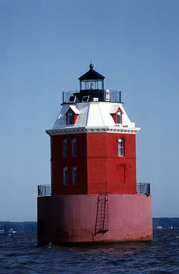 Sandy Point Lighthouse Art Print by Skip Willits