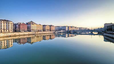 Lyon Photograph - Saône River by Aloïs Peiffer