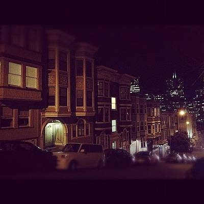 Victorian Wall Art - Photograph - #sanfrancisco #night #victorian #city by Christy I
