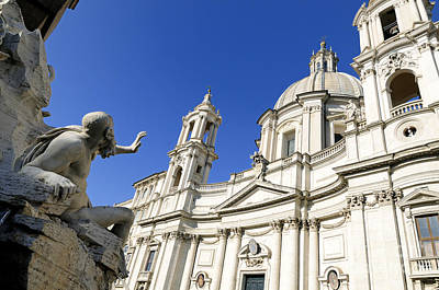Sant' Agnese In Agone. Piazza Navona. Rome Art Print
