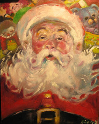 Painting - Santa 2011 by Kevin McKrell