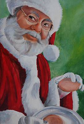 Painting - Santa 2012 by Teresa Smith