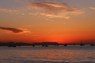 Photograph - Santa Barbara East Beach Sunset 2 by Sheila Kay McIntyre