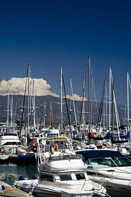 Photograph - Santa Barbara Harbor by Gary Brandes