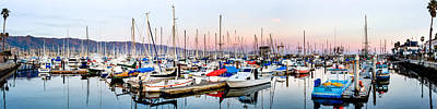 Up201209 Photograph - Santa Barbara Harbor by Josh Whalen
