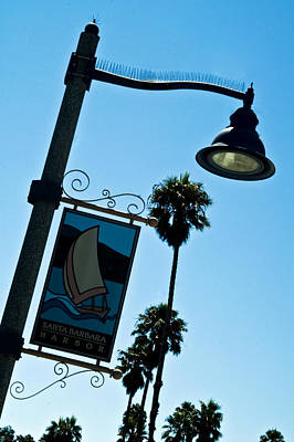 Photograph - Santa Barbara Harbor Light by Gary Brandes