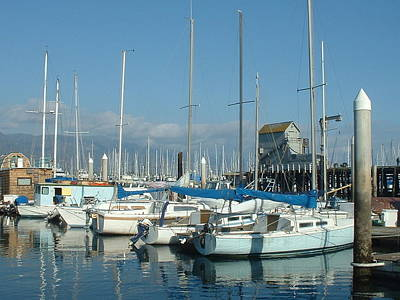 Photograph - Santa Barbara Marina by Linda Pope