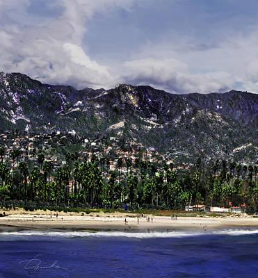 Photograph - Santa Barbara Triptych Part1 by Danuta Bennett