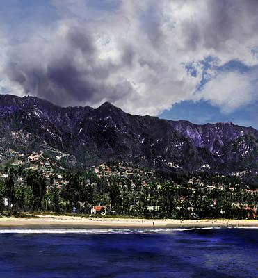 Photograph - Santa Barbara Triptych Part2 by Danuta Bennett