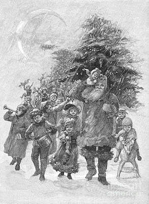 Drum Horse Photograph - Santa Claus, 1891 by Granger