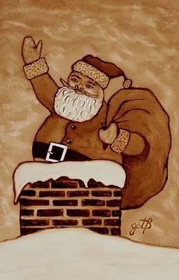 Painting - Santa Claus Is Coming by Georgeta  Blanaru