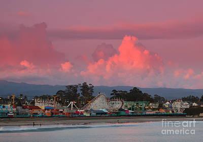 Art Print featuring the photograph Santa Cruz Beach Boardwalk by Garnett  Jaeger