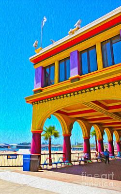 Santa Cruz Boardwalk - Arcade -01 Art Print by Gregory Dyer