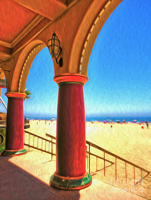 Santa Cruz Boardwalk - Beach Art Print by Gregory Dyer