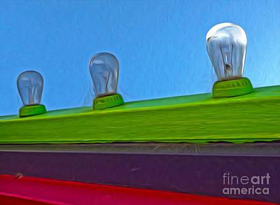 Santa Cruz Boardwalk - Carnival Lights Art Print by Gregory Dyer