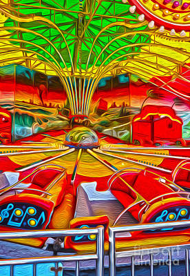 Santa Cruz Boardwalk - That Ride That Makes You Sick Art Print by Gregory Dyer