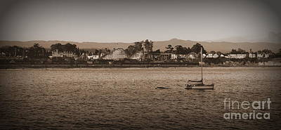 Photograph - Santa Cruz Boardwalk Sepia by Garnett  Jaeger