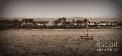 Art Print featuring the photograph Santa Cruz Boardwalk Sepia by Garnett  Jaeger