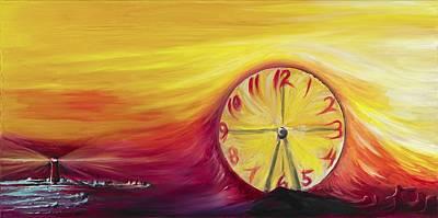 Surrealistic Painting - Santa Cruz by David Junod