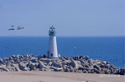 Photograph - Santa Cruz Harbor Lighthouse by Morgan Wright