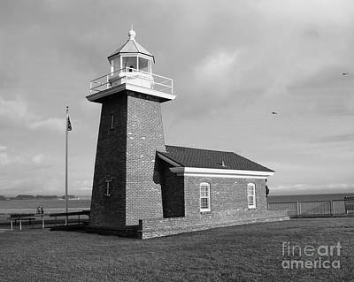 White Photograph - Santa Cruz Lighthouse - Black And White by Carol Groenen