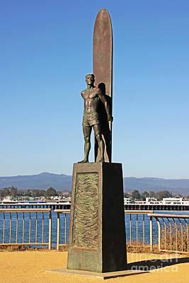 Santa Cruz Surfer Statue Art Print