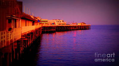 Photograph - Santa Cruz Wharf by Garnett  Jaeger