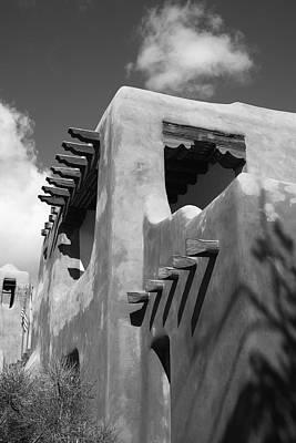 Santa Fe Adobe Building Art Print by Frank Romeo